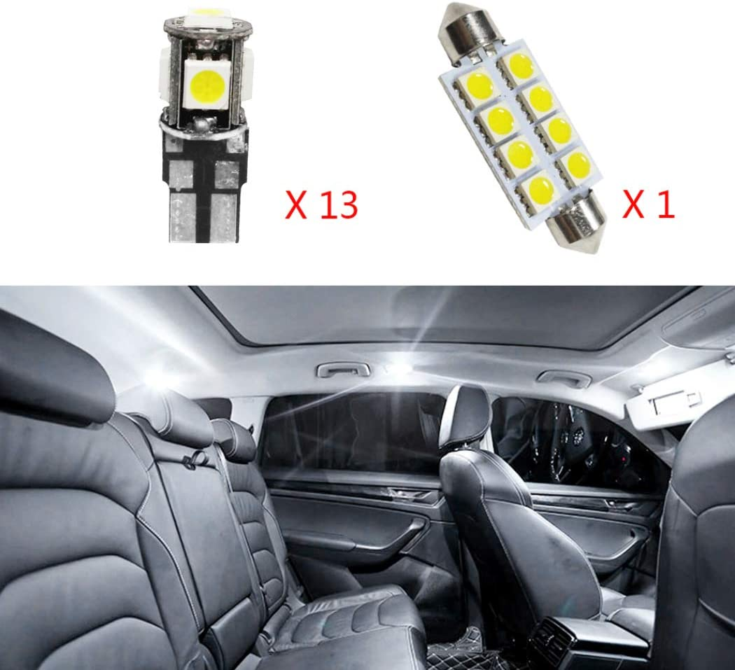 For 1//2//3 Series LED Car Bulbs Reading lights Super Bright Car Interior Light Dome Map Side Courtesy Lamps Canbus Error Free Replacement Lights White 5pcs