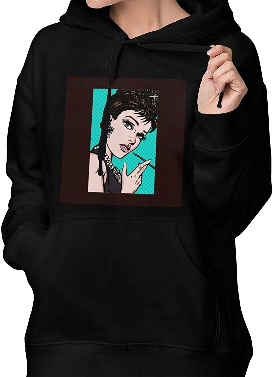 Dydelao Audrey Hepburn Lichtenstein Womens Fashion Casual Hooded Breathable Sweater