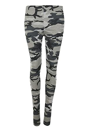 d89719f3057989 janisramone Womens Ladies New Camouflage Army Grey Print Full Ankle Length  Stretchy Slim Fit Leggings Pants: Amazon.co.uk: Clothing