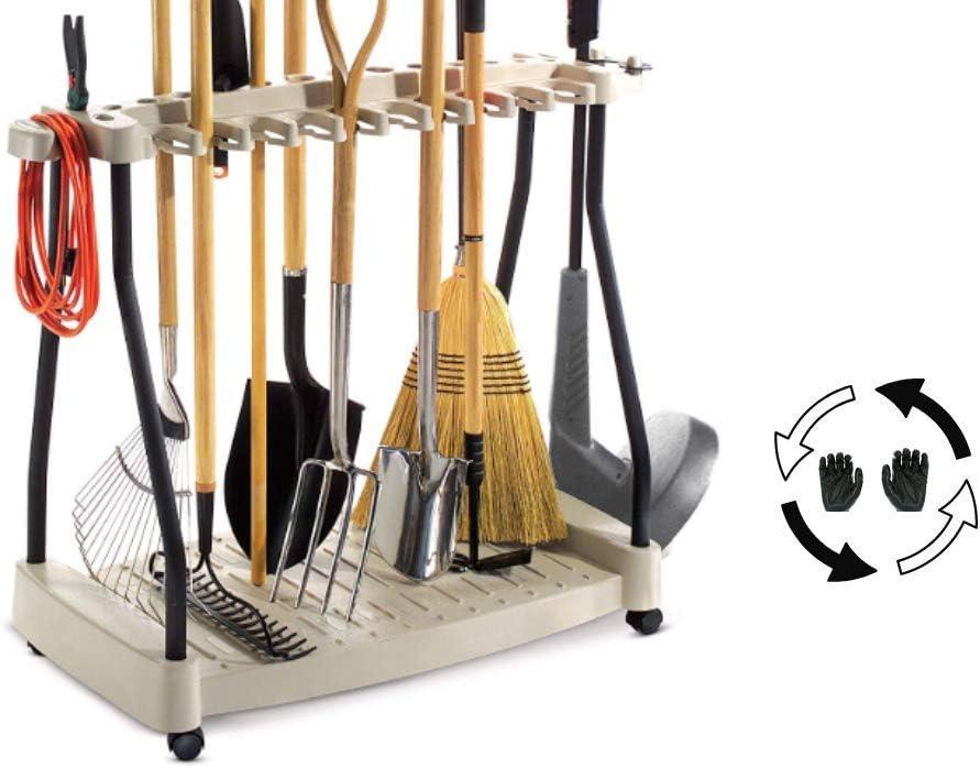 Amazon Com Tool Rack Metal Organizer Rolling Garden Tools Rack