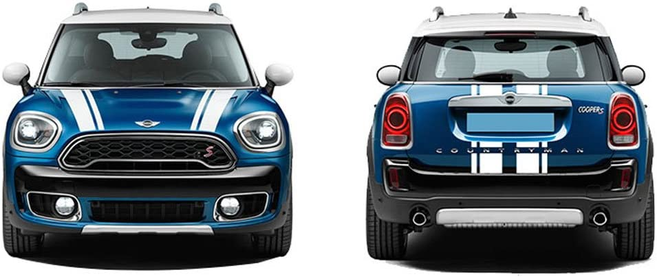RED CHARMINGHORSE Bonnet Stripe Graphics Sticker Hood Trunk Rear Decal Stickers for Mini Cooper S Countryman F60 2017-4 Colors