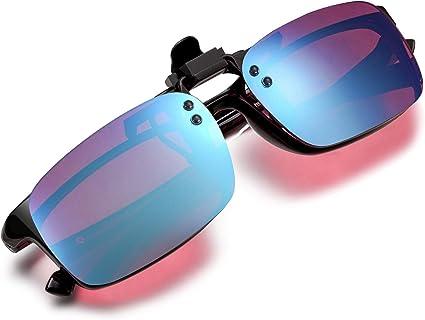 Amazon.com: Pilestone Red-Green Color Blind Glasses TP-029 Clip-on Purple  Lenses Same Lens as TP-025: Clothing