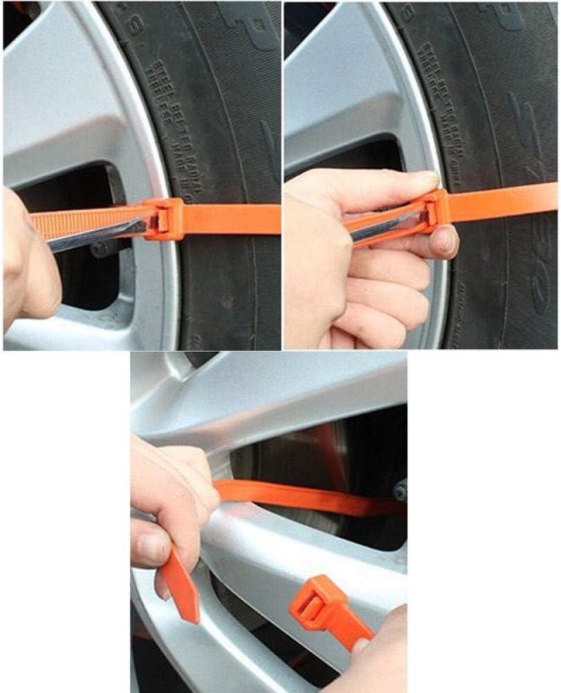 YMSM Anti-Rutsch-Kabelbinder f/ür Neue tragbare Fahrzeuge 40-teilige Auto-verstellbare Anti-Rutsch-Kabelbinder rutschfeste Ketten f/ür Schneereifen Auto-Winter-Fahrnotfall-Sicherheit