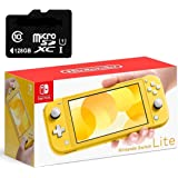"Newest Nintendo Switch Lite Game Console, Yellow, 5.5"" Touchscreen, Built-in Plus Control Pad, W/128GB Micro SD Card, Built-i"