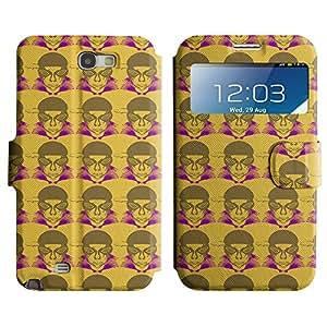 LEOCASE hombre lindo Funda Carcasa Cuero Tapa Case Para Samsung Galaxy Note 2 N7100 No.1003070