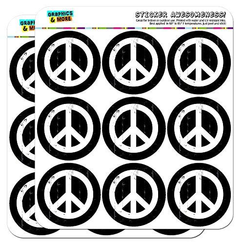 Artsy Peace Sign Symbol Black White 2
