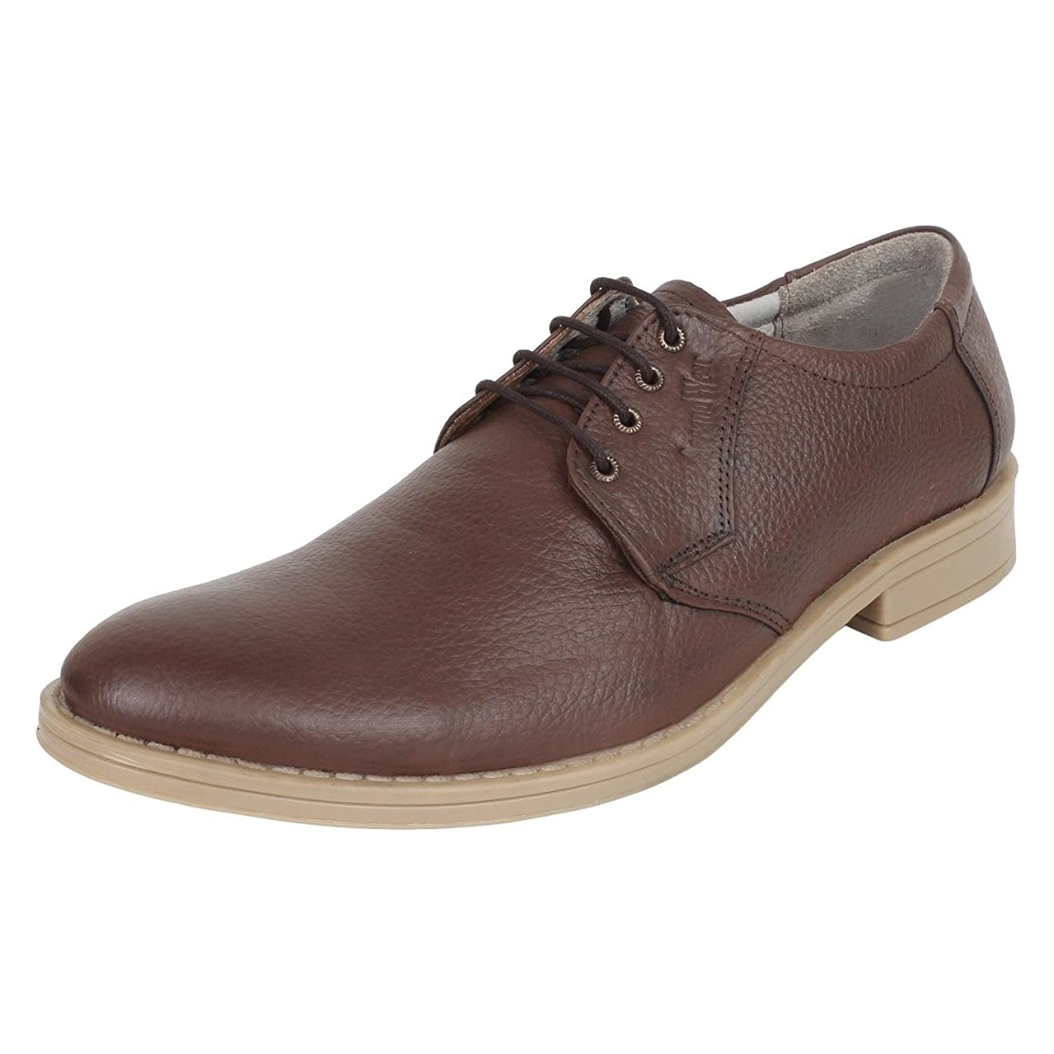bbde283e8ad2d1 chic SeeandWear Men`s Oxford Shoes. Genuine Leather Brown Laceup Casual Shoe