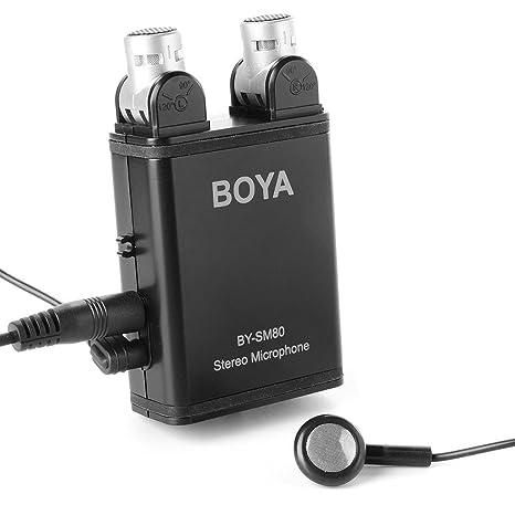 BOYA BY-SM80 stereo X//Y Condensatore Microfono regolabile per fotocamere//Videocamera