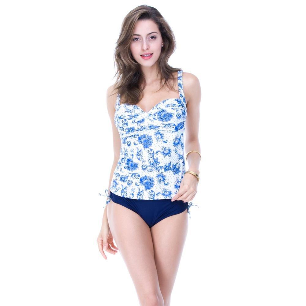 SHISHANG Bikini-Damen Badeanzüge zweiteilige Sätze von flachen Hose abnehmbare Padschwämme sind dünne Badeanzüge hohe Elastizität