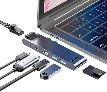 Baseus USB Type-C 7-in-2 Thunderbolt 3 Hub Adapter