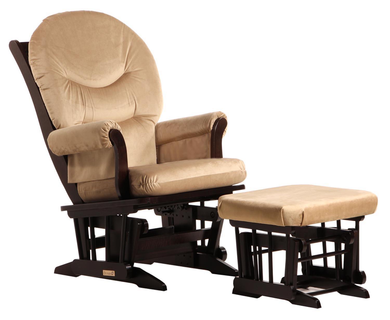 Amazon.com: Dutailier Sleigh Glider And Ottoman Combo, Espresso/Beige: Baby