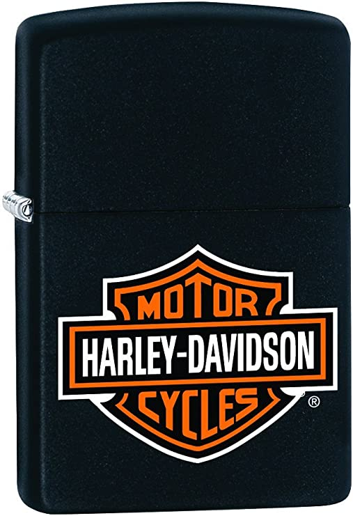 Zippo - Mechero de Harley Davidson Bar & Shield Black 218HD-H252
