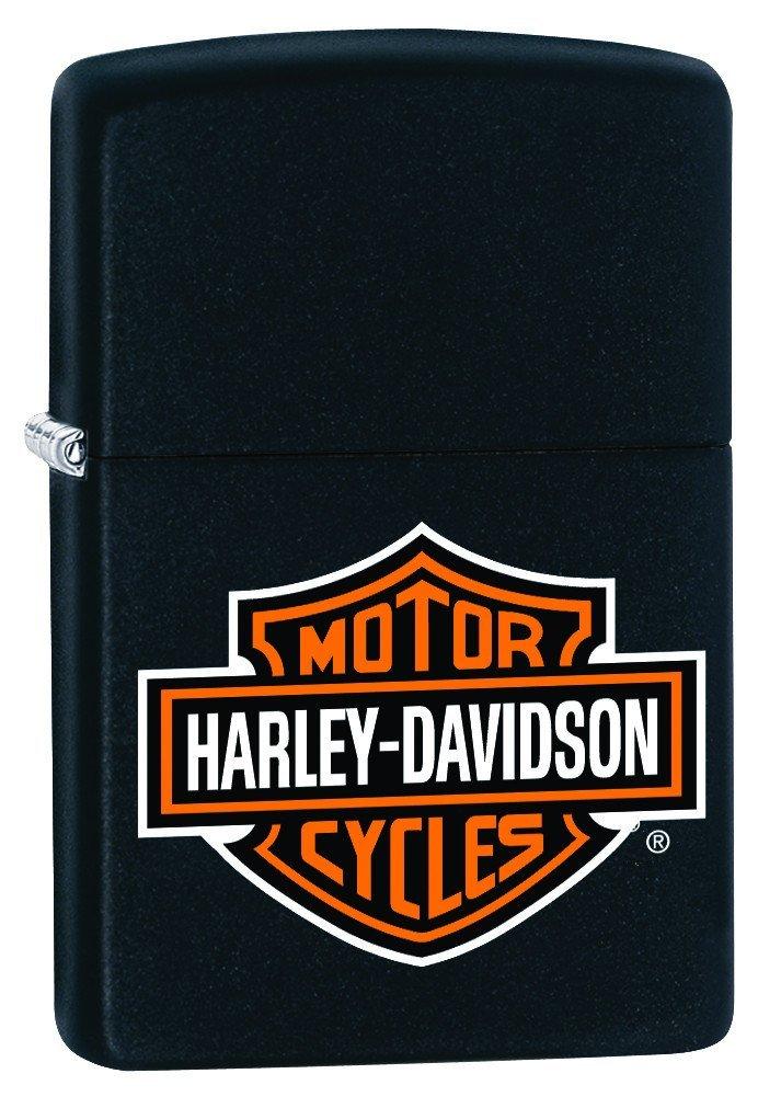 Black Matte, HD Logo (ZI218HDH252) Category: Harley-Davidson Zippo Lighters