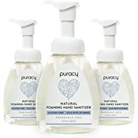Puracy Natural Foaming Hand Sanitizer, Alcohol-Free, Hypoallergenic, Nontoxic, 8.5-Ounce (3-Pack)