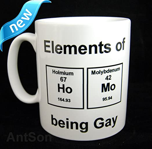 Periodic table element gay mug 11oz amazon kitchen home periodic table element gay mug 11oz urtaz Image collections