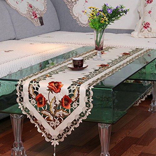ihappy rurales Peonía Flor Bordado Cutwork Camino de mesa 40,6x 175,3cm