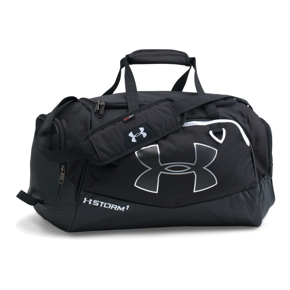 Under Armour Undeniable Duffle 2.0 Gym Bag, Black (001)/White, Small