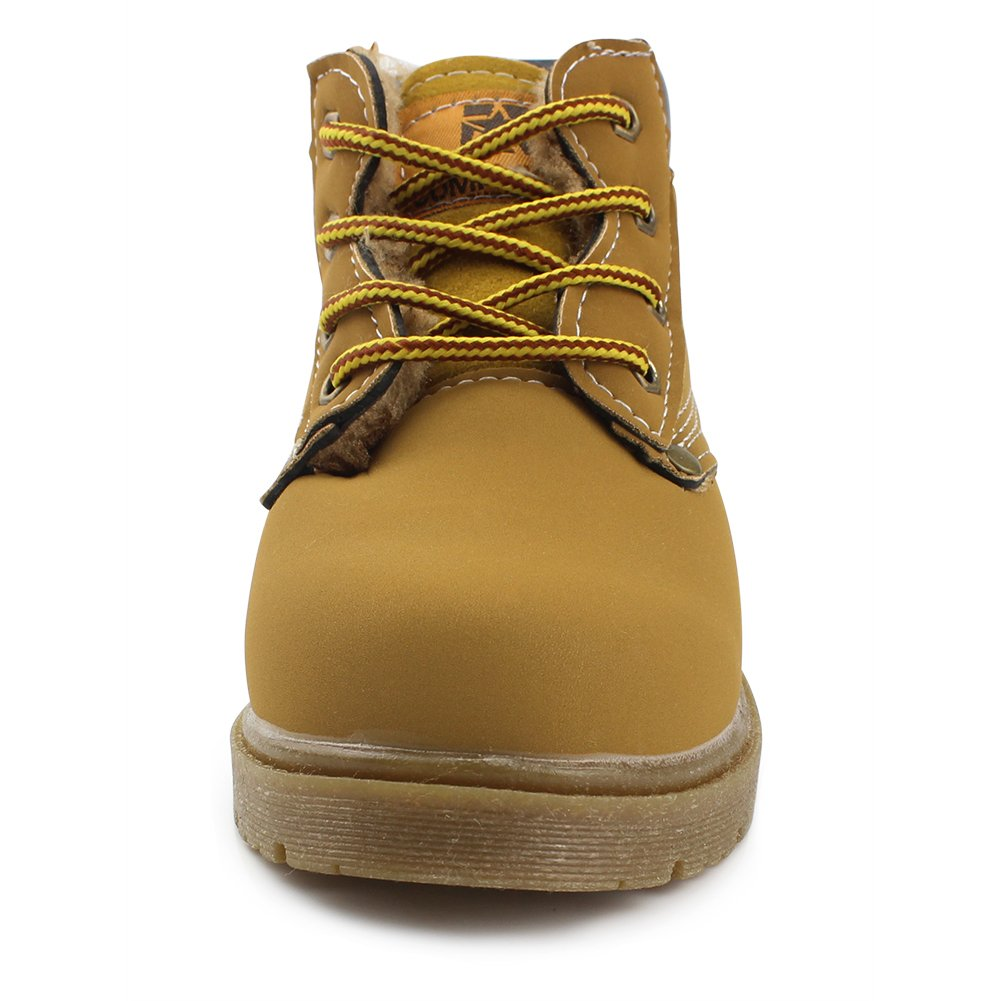 Gungun Kids Waterproof Lace Up Boots Boy Girl Hiking Combat Boots Toddler//Little Kid