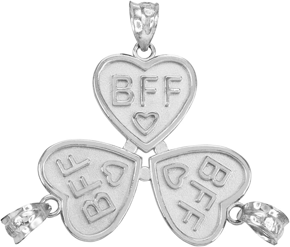 Sterling Silver BFF Charm Pendant