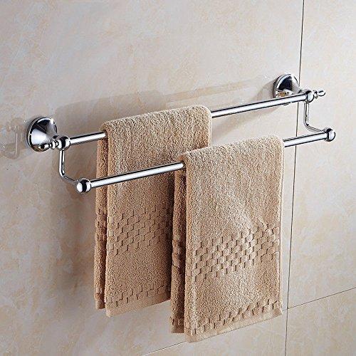 Acciaio inossidabile portasciugamani spessa barra porta asciugamani bagno mensola bagno pendente 60 cm TowelRackQX