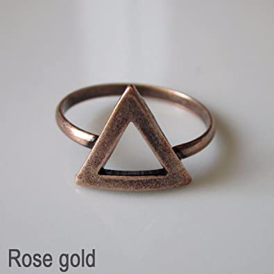 c06e3976b4be Antique Vintage inspired Unique Ring One size Fashion Jewellery Burnished  Ring  4 - Rose gold