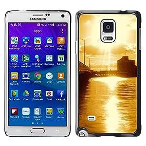 Smartphone Rígido Protección única Imagen Carcasa Funda Tapa Skin Case Para Samsung Galaxy Note 4 SM-N910F SM-N910K SM-N910C SM-N910W8 SM-N910U SM-N910 Nature Beautiful Forrest Green 67 / STRONG