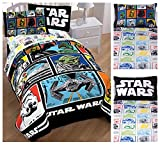 Star Wars Classic 4 Piece Bed in a Bag Twin Bedding Set - Reversible Comforter, Sheets and Pillow Case