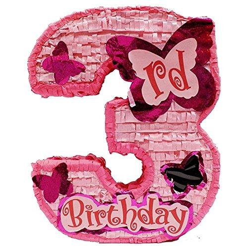 UPC 721083421758, Girls Third Birthday Pinata - Pink