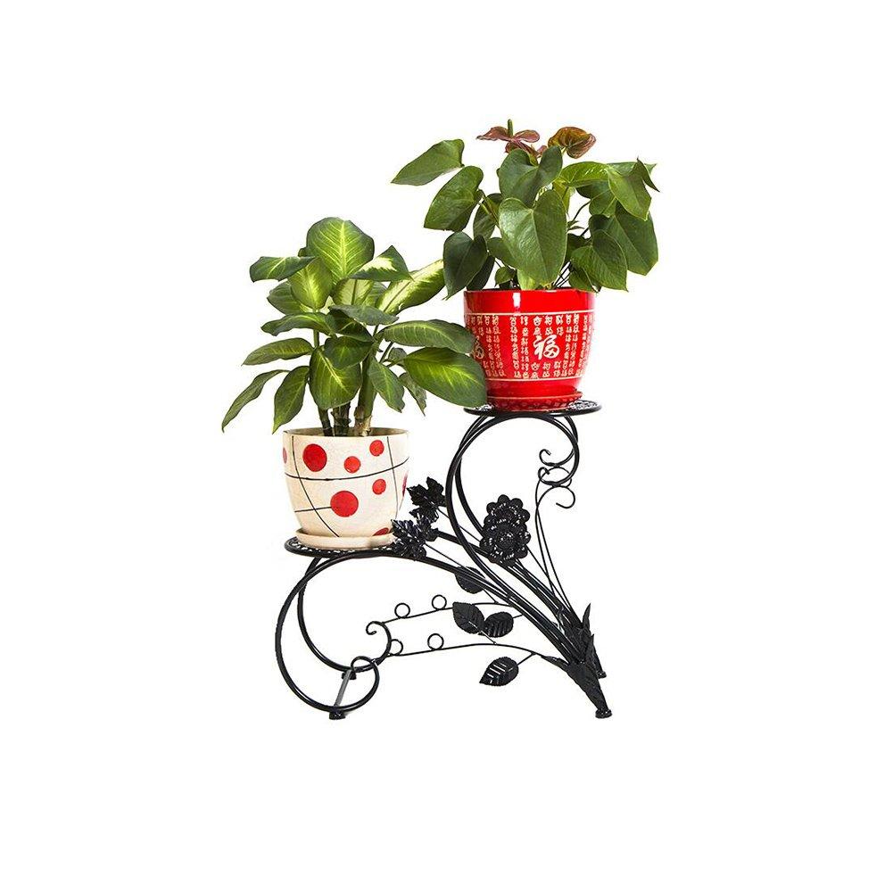 all'ingrosso a buon mercato ZX Scaffali Scaffali Scaffali Porta Piante Espositore da fioriera per Piante Nere, espositore per arredo da Giardino di casa Ripiani Mensole (colore   Nero)  preferenziale