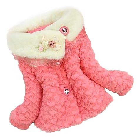Koly/® Baby Girls Kids Toddler Floral Outwear Clothes Winter Jacket Coat Snowsuit