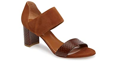 Aquatalia Womens Suzanne Suede Open Toe Casual Ankle Strap Brown Size 90
