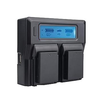 TOP-MAX USB Cargador para Nikon EN-EL14, EN-EL14 a Recargable para Nikon Coolpix P7800, P7700, P7000, P7100, D3100, D3200, D3300, D5100 D5200 D5300 ...