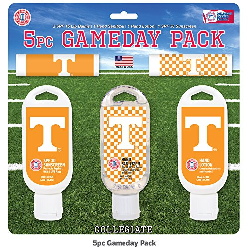 Tennessee Volunteers Christmas Stocking - Worthy Promotional NCAA Tennessee Volunteers 5-Piece Game Day Pack with 2 Lip Balms, 1 Hand Lotion, 1 Hand Sanitizer, 1 SPF 30 Sport Sunscreen