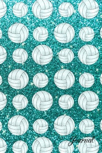 Journal: Faux turquoise glitter volleyball ()