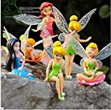 Game, Fun, 6pcs/Set Christmas Kids Gift Tinkerbell Dolls Flying Flower Fairy Children Animation Cartoon Baby Toy Juguetes, Toy, Play