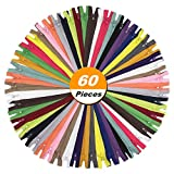 zipper for sewing - YaHoGa 60pcs 18 Inch (45cm) Nylon Coil Zippers for Tailor Sewing Crafts Nylon Zippers Bulk 20 Colors (3pcs per color) (18