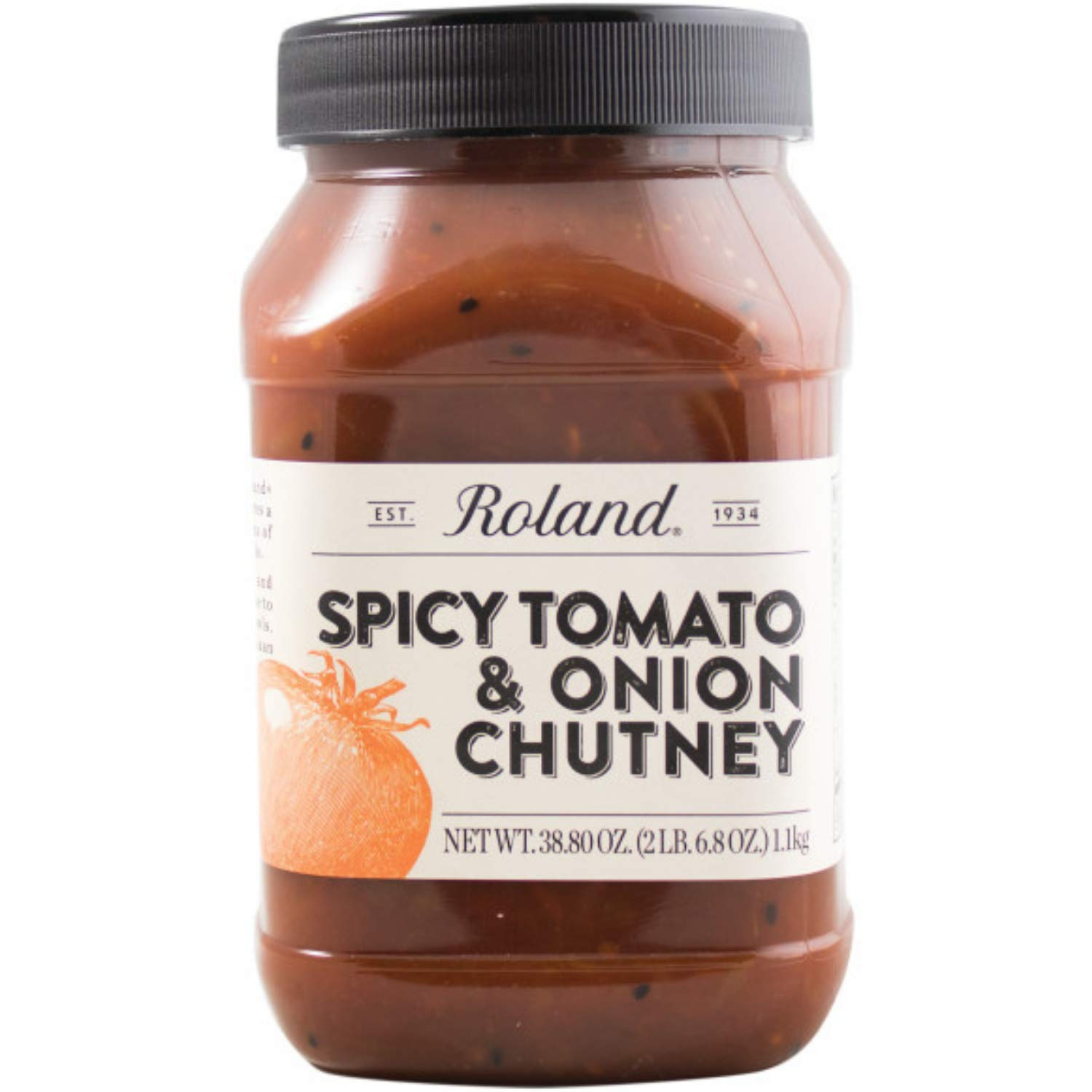 Roland Foods Spicy Tomato and Onion Chutney, Specialty Imported Food, 38.8-Ounce Jug