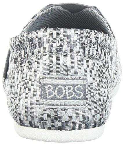 Bobs Da Skechers Da Donna Bobs Plush-geometric Jacquard Ballet Flat Grey