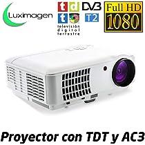 Proyector Full HD 1080P, LUXIMAGEN HD520 (2018 NUEVO), Proyector ...