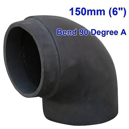 "lincsfire 6 ""90 Degree Bend Tubo chimenea de chimenea para leña Log quemador Multifuel"