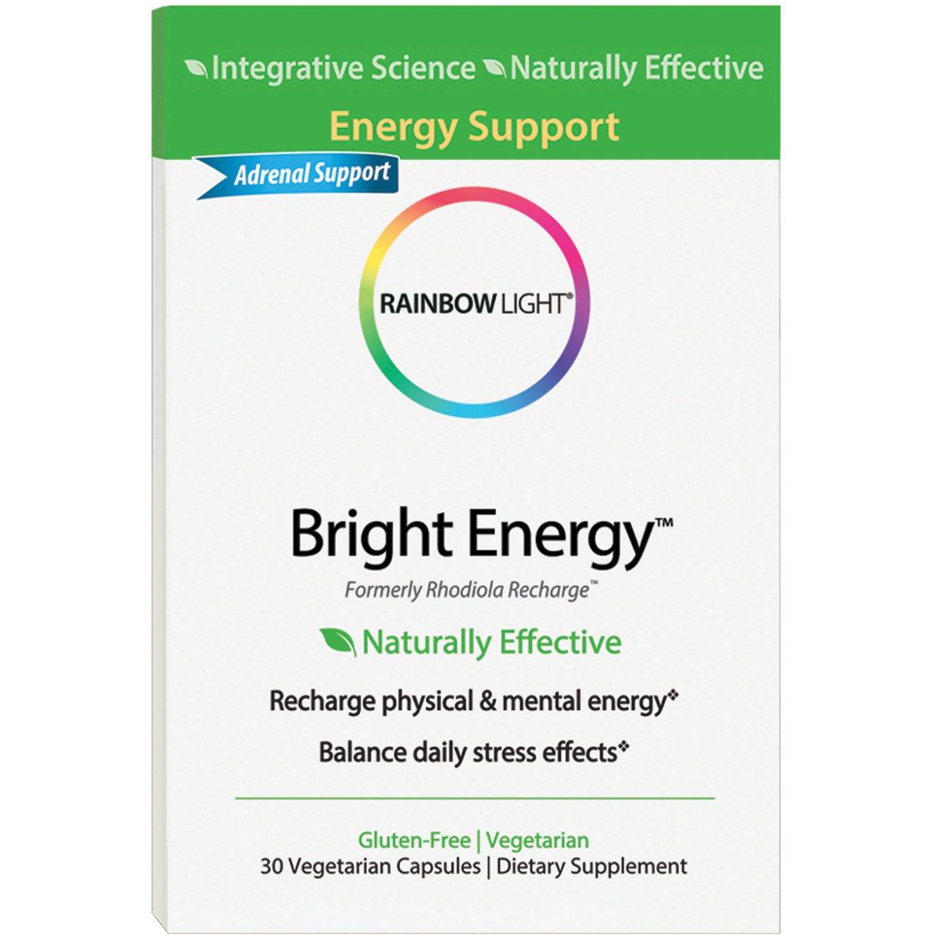 Rainbow Light - Bright Energy 30 Count, Adrenal Support, Gluten Free, Vegetarian