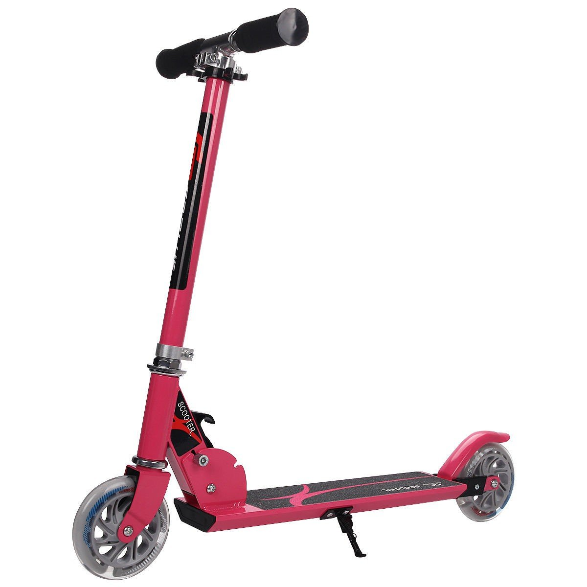 MD Group Kids Kick Scooter Folding Adjustable Pink Aluminum & PU Wheels Christmas Gift