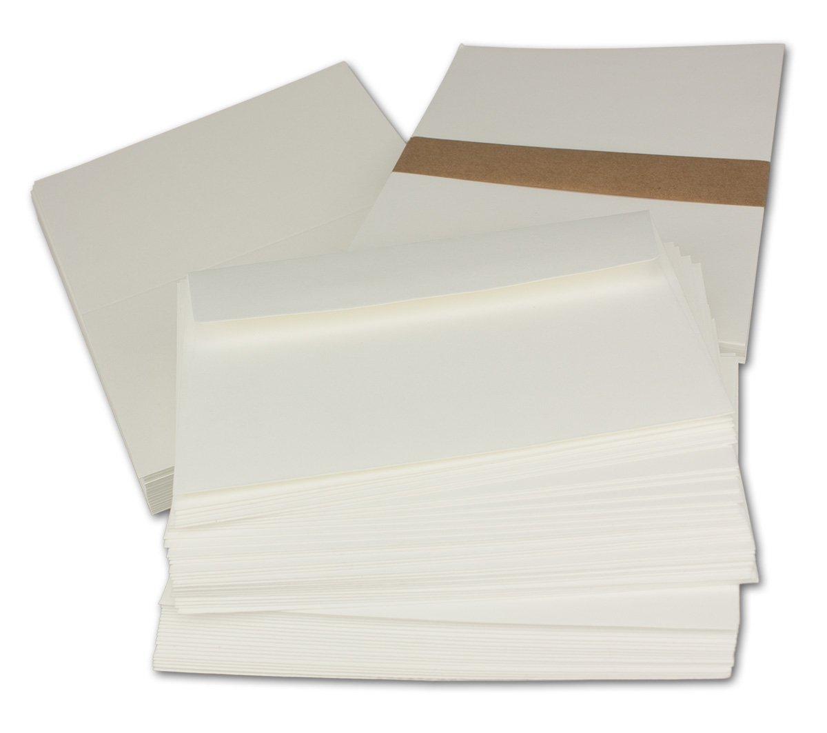 Kartenpaket DIN A6   C6 mit Faltkarten in Creme - Umschlägen in Creme mit Haftklebung - Einlegeblätter in Creme  200 Sets   Für besondere Anlässe  - Qualitätsmarke  Gustav NEUSER® B07D3QNGR1   Modisch
