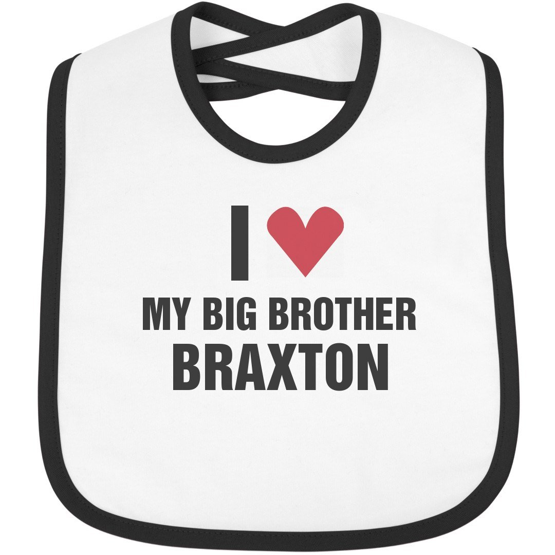 422996582 Amazon.com: I Love My Big Brother Braxton: Infant Rabbit Skins Contrast  Trim Bib: Clothing