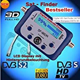 SaferCCTV(TM) SF95DR Digital Satellite Signal Meter Finder for Dish Network Directv Dish with Compass FTA DVB S2 DVB S