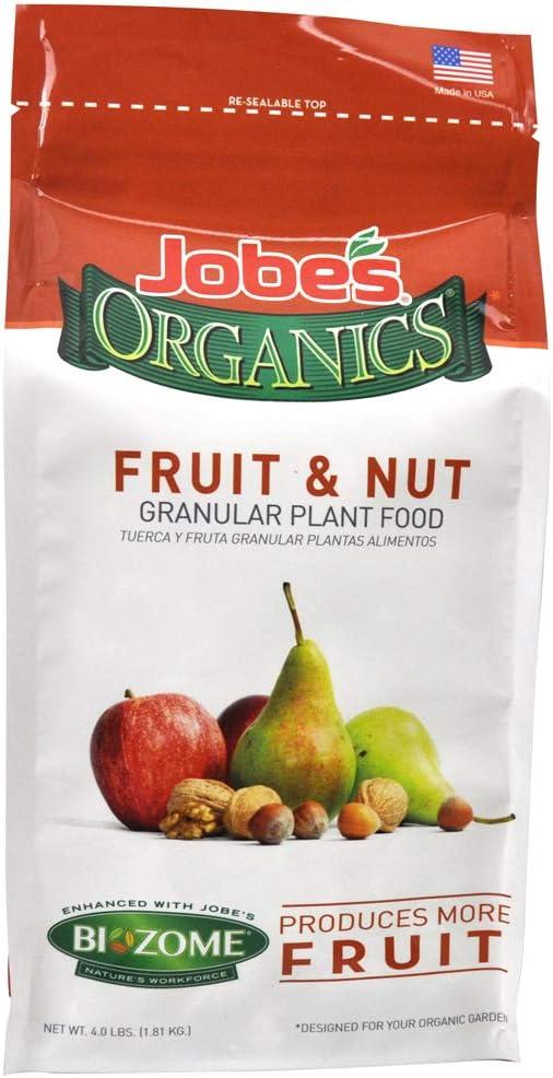 Jobe's Organics 9227 Fruit & Nut Granular Fertilizer, 4 lb, Brown