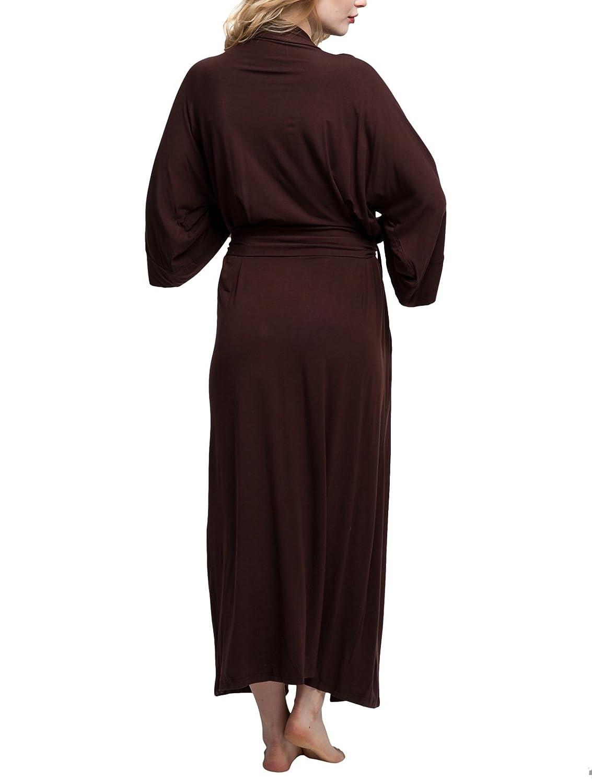 Womens Cotton Robe Soft Kimono Robes Knit Bathrobe Loungewear Sleepwear  Long Bathrobe Nightgown at Amazon Women s Clothing store  dd51f7e04