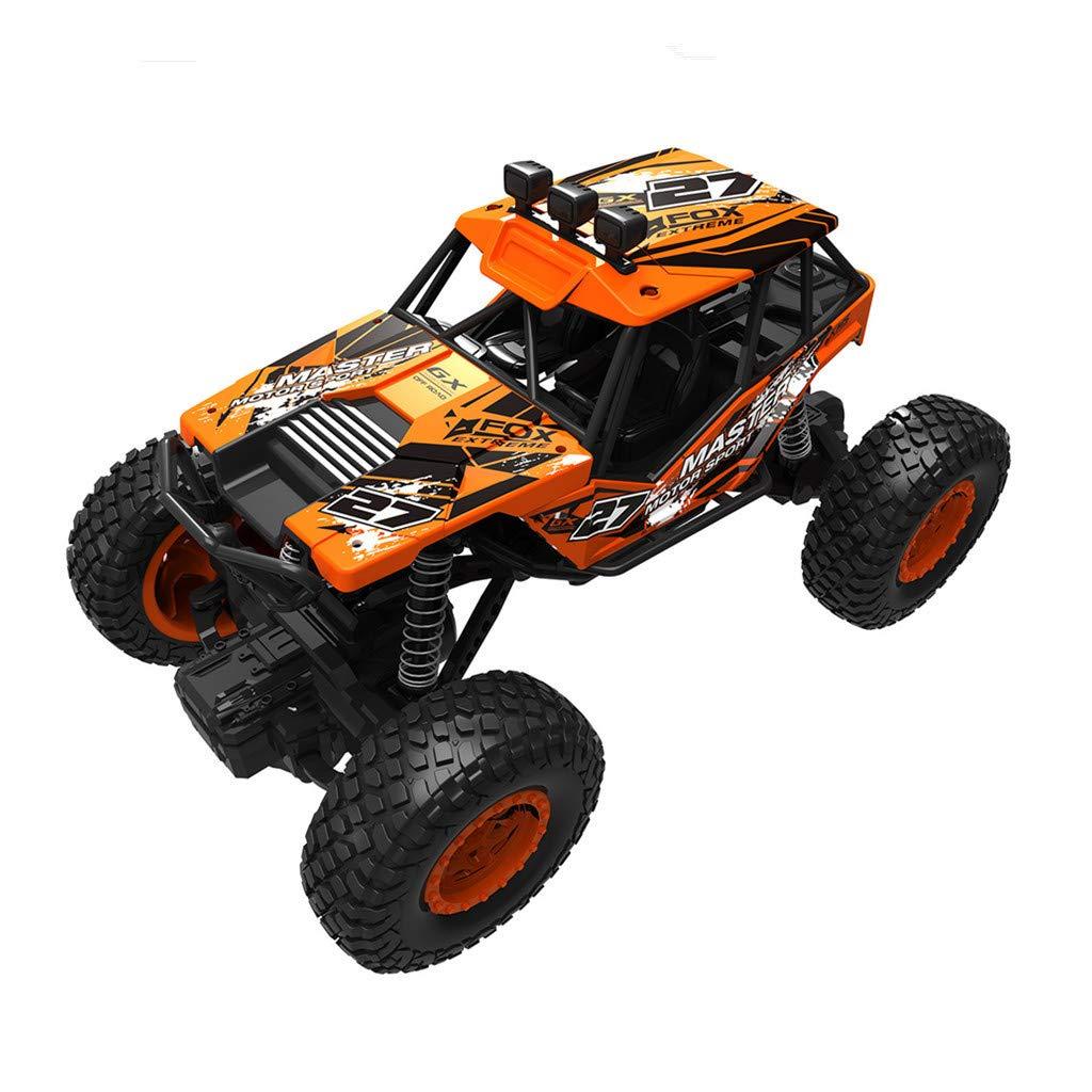 Off Road RC Car - Dacawin 1:20 4CH Shockproof Crashworthy High Friction Anti-Skid Truck - Rock Climbing Racing RTR Remote Control Car Toy (Orange, RC Truck)