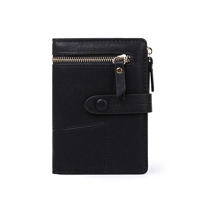 f2c429b63ec Womens Girls PU Leather Wallet Short Clutch Card Holder Cute Change Zipper  Ladies Travel Mini Coin Purse
