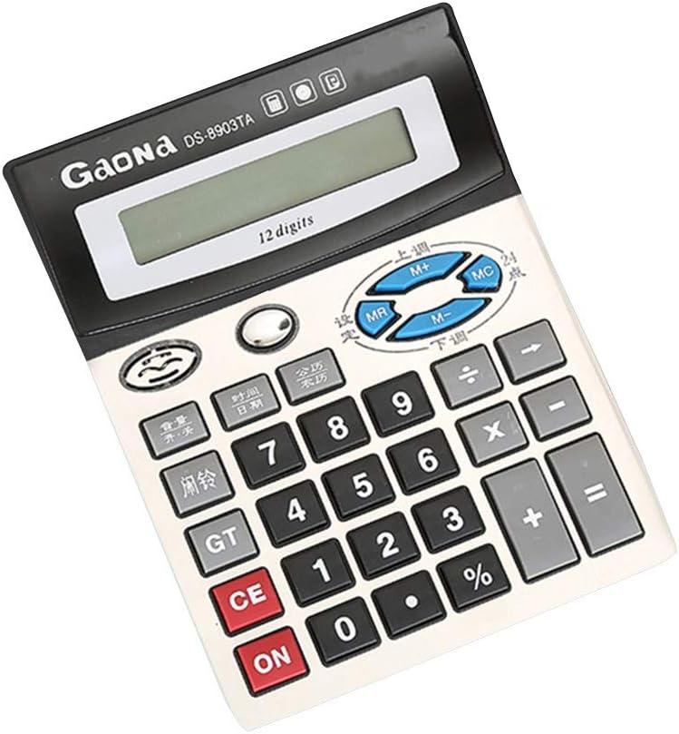 電卓 大規模な電子計算機のバッテリー電源12桁ディスプレイビジネスオフィスの学校の計算のための多機能大きなボタン (色 : Photo Color, サイズ : ワンサイズ)